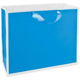 """Fiesta Blue Large Gift Bag, 10.5"""", , large"""