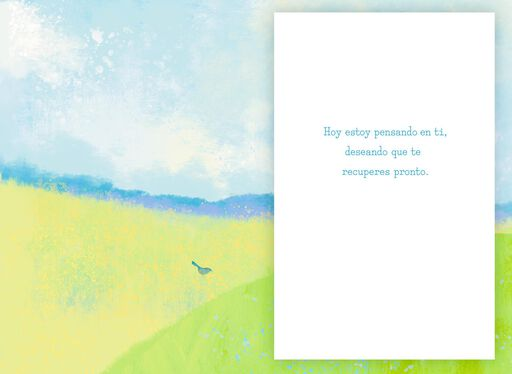 Rest and Regain Your Strength Spanish-Language Get Well Card,