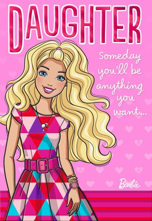 Sweet Daughter Barbie™ Valentine's Day Card With Stickers