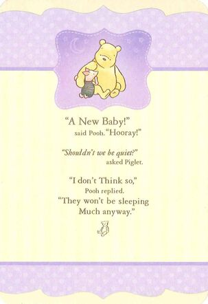 Winnie the Pooh and Piglet New Baby Card
