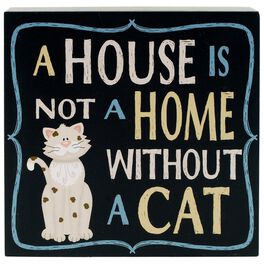 A House Is Not a Home Without a Cat Box Sign, , large