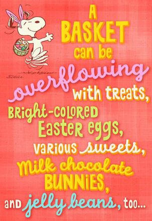Peanuts® Snoopy Granddaughter Easter Card