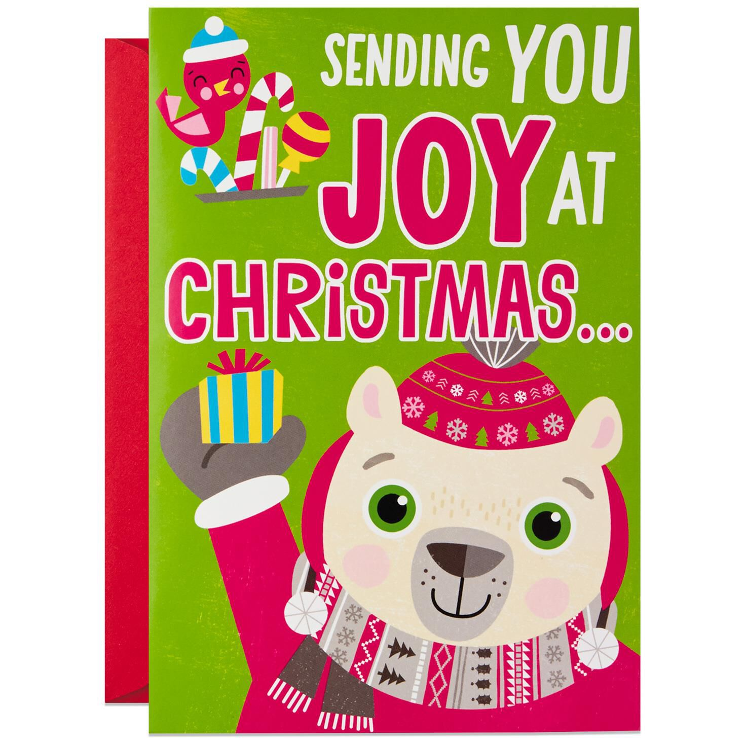 Bear Hugging Musical Christmas Card For Child Greeting Cards