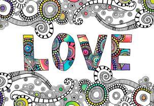 Groovy Love Anniversary Card