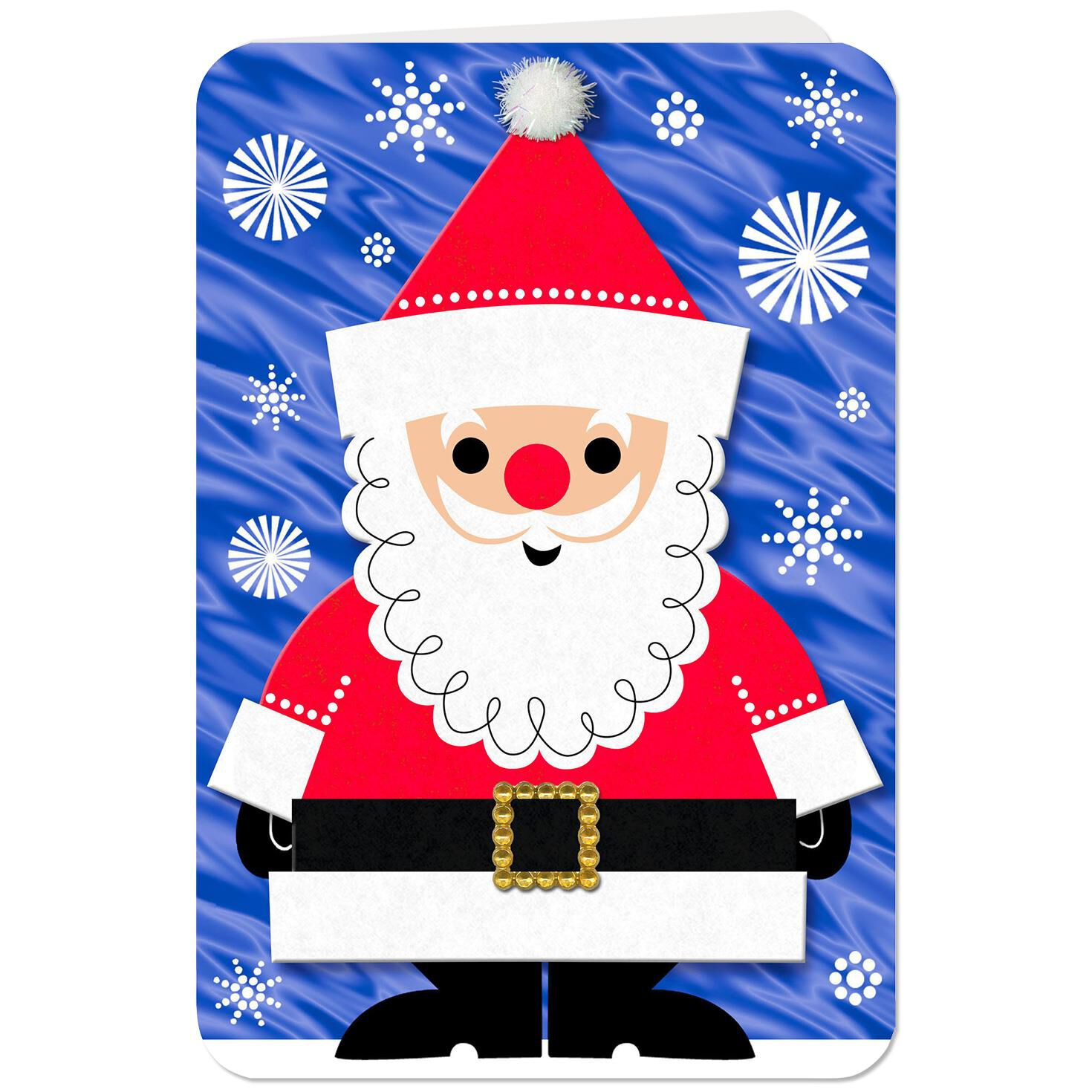 Jolly Santa Musical Christmas Card Greeting Cards Hallmark