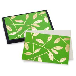 Green Leaves Blank Note Cards, Pack of 10, , large