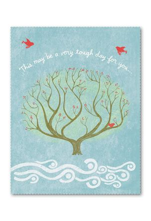 Red Birds and Tree Sympathy Card
