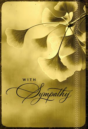 Gilded Flowers Sympathy Card