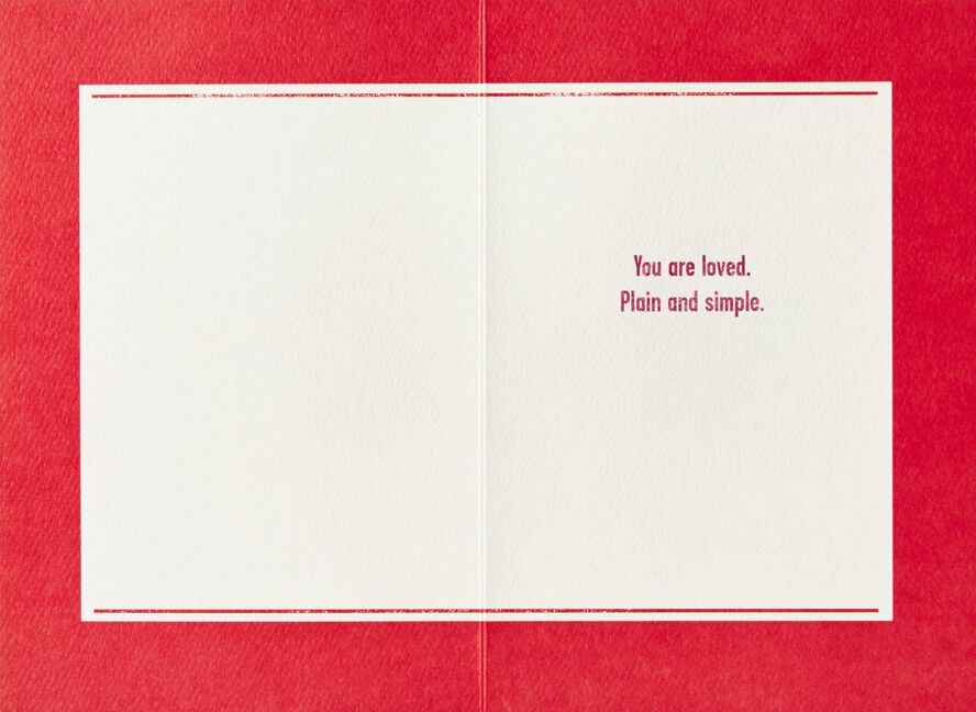 Life is good plain and simple valentines day card greeting cards card life is good plain and simple valentines day m4hsunfo