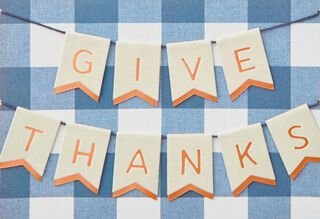Good Food, Good Times Thanksgiving Card,