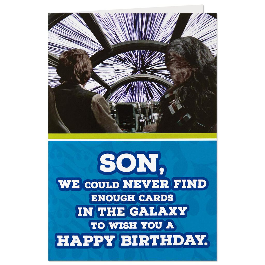 Star Wars™ Han Solo™ and Chewbacca™ Birthday Card for Son - Greeting ...