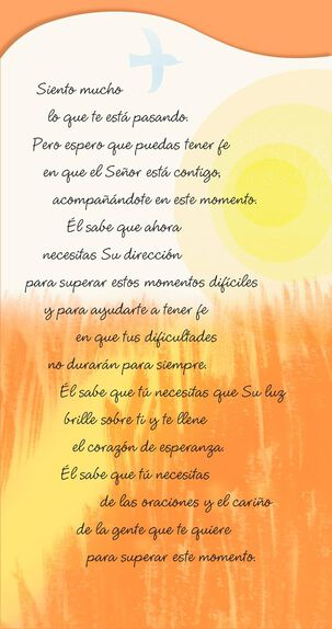 Faith and Hope Spanish-Language Religious Encouragement Card