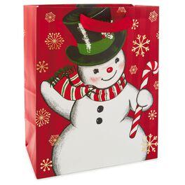 "Nostalgic Snowman Large Gift Bag, 13"", , large"