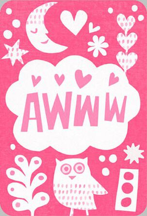 AWWW New Baby Girl Congratulations Card