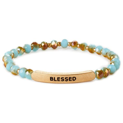 93485b944 Blessed Glass Bead Stretch Bracelet