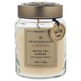 Crafters & Co. White Tea Ginger Candle, 4-oz, , large