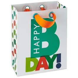 """Happy B Day Small Gift Bag, 6.5"""", , large"""