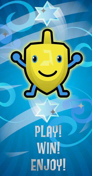 Happy Dreidel Hanukkah Money Holder Card