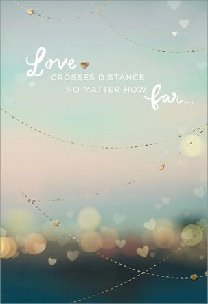 Love Crosses Distance Miss You Card