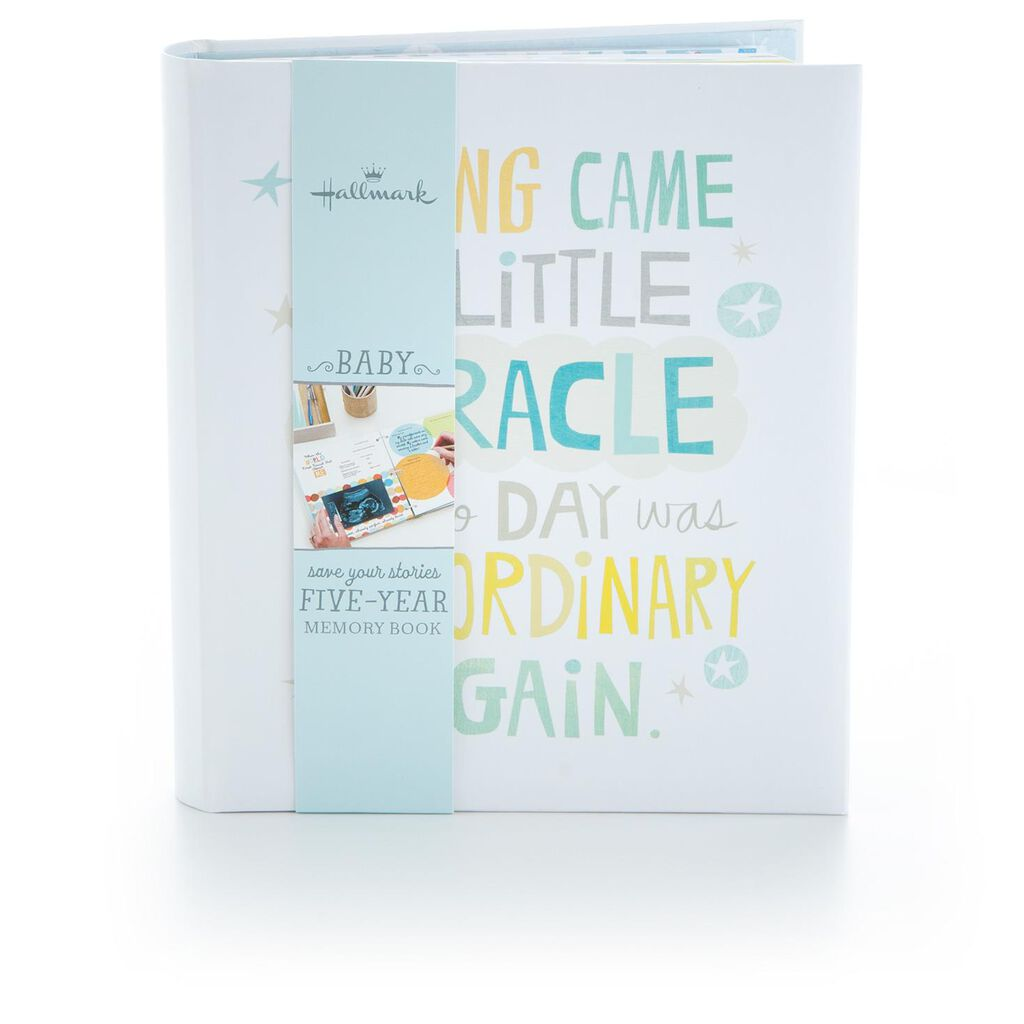 0224c5ac0a169 Little Miracle Baby Boy Memory Book