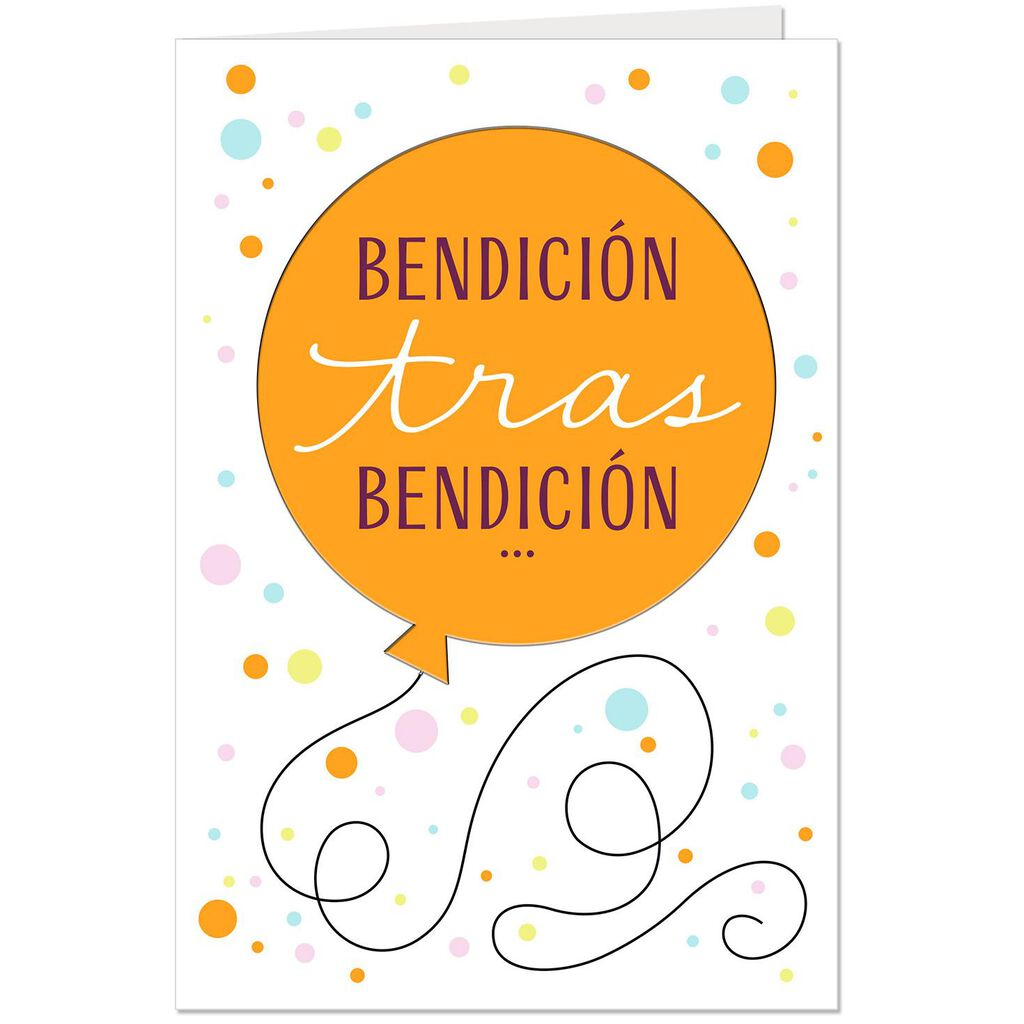 Blessing After Spanish Language Religious Birthday Card