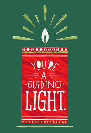 Guiding Light Candle Christmas Card