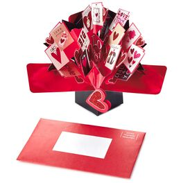 Multiple Mini Greetings Pop-Up Valentine's Day Card, , large