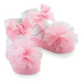 Mud Pie® Tulle Puff Baby Socks, , large