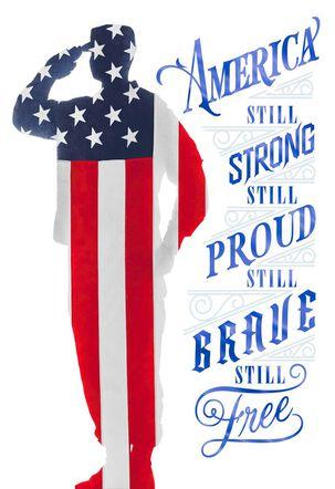 Flag Silhouette Salute Veterans Day Card