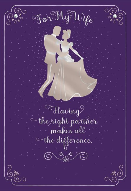 Disney Cinderella And Prince Charming Birthday Card For Wife