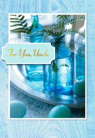 Fern Frond Uncle Easter Card