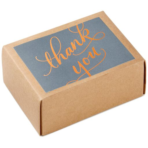 Copper Script Thank You Notes Box Of 40
