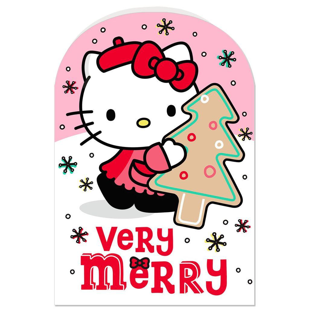 Hello Kitty Merry Christmas.Hello Kitty Very Merry Christmas Card