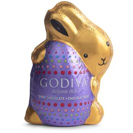 Godiva Foil-Wrapped Dark Chocolate Bunny, 4 oz., , large