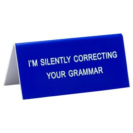 About Face Silently Correcting Your Grammar Small Sign, , large