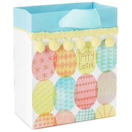 """Happy Easter Eggs Small Gift Bag, 6.5"""", , large"""