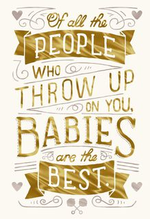 Joys of Parenthood Funny New Baby Card,