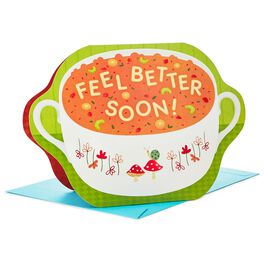"Alphabet Soup Remedy Stand Up Jumbo Get Well Soon Card, 11"", , large"