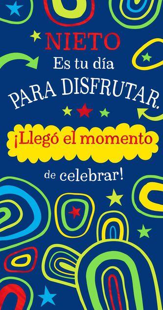 Celebrate Spanish Language Money Holder Birthday Card For Grandson