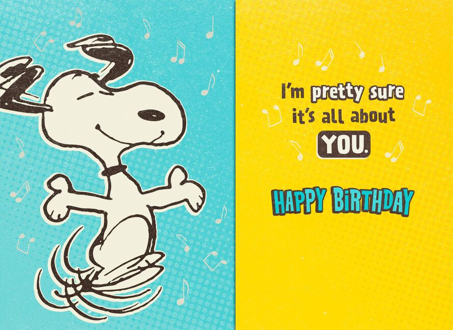 Peanuts Snoopy Happy Dance Musical Birthday Card Greeting Cards