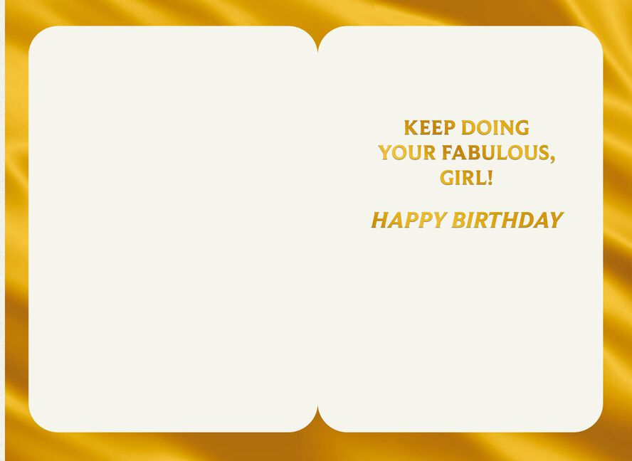 Keep Doing Your Fabulous Funny Birthday Card For Her Greeting