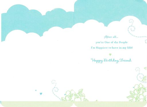 Winnie the Pooh Happiest Days Friend Birthday Card,