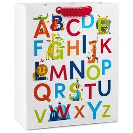 "ABC Alphabet and Animals Large Gift Bag, 13"", , large"