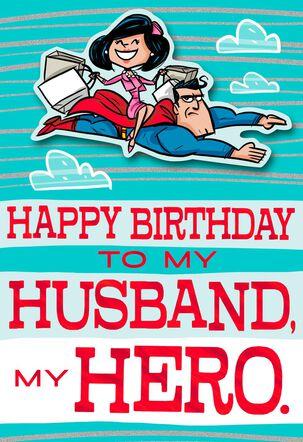 DC Comics Superman™ My Husband, My Hero Birthday Card