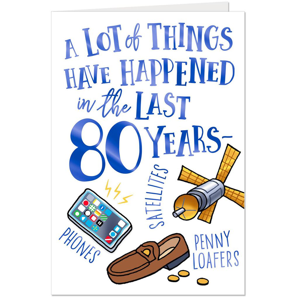 A Lot Has Happened Funny 80th Birthday Card