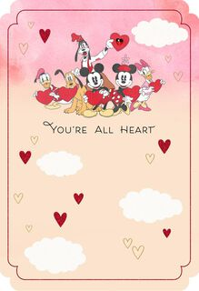 Mickey Mouse and Friends All Heart Valentine's Day Card,
