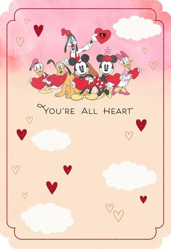 mickey mouse and friends all heart valentines day card - Mickey Mouse Valentines