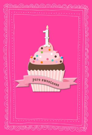 Pure Sweetness First Birthday Card