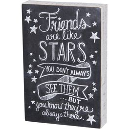 Primitives by Kathy Friends Are Like Stars Chalk Sign, , large