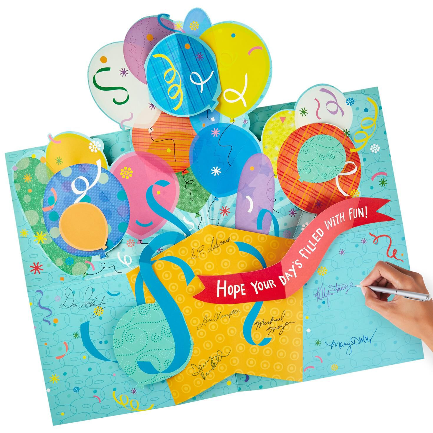 Balloons For Fun Pop Up Jumbo Birthday Card Root Source Image Jpg 1024x1024 Greeting Cards